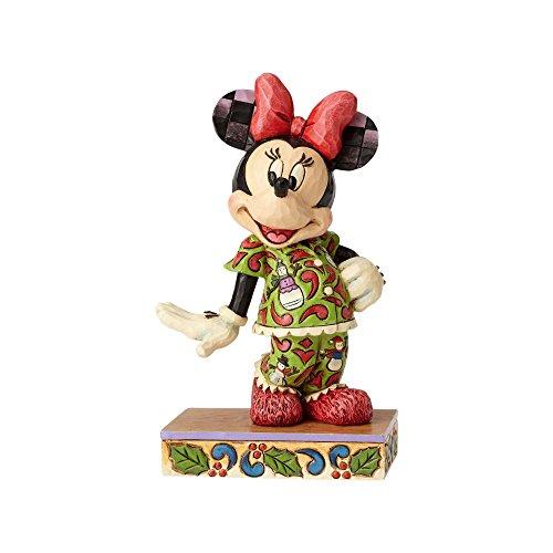 Enesco Jim Shore Disney Traditions Minnie in Christmas Pajamas Figurine ()