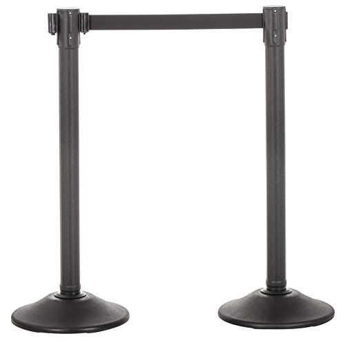US Weight Sentry QuikSecure Stanchion with Retractable Belt (2-Pack) - Belt Stanchion