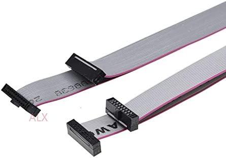 2.54mm Pitch 6P 10P 14P 16P 20P 40P IDC Flat Ribbon Cable 300mm ATAU