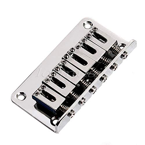 Wall of Dragon Fixed Bridge Hardtail Bridge Guitar Tailpiece 6 String for Electric Guitar Parts Accessories Black Chrome
