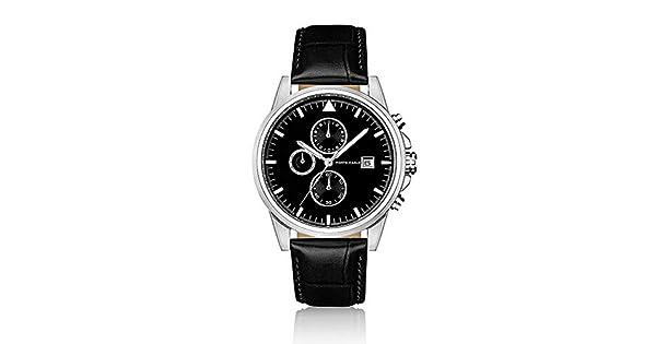Relógio Monte Carlo Masculino em Couro Preto  Amazon.com.br  Amazon Moda 4d30aa9363
