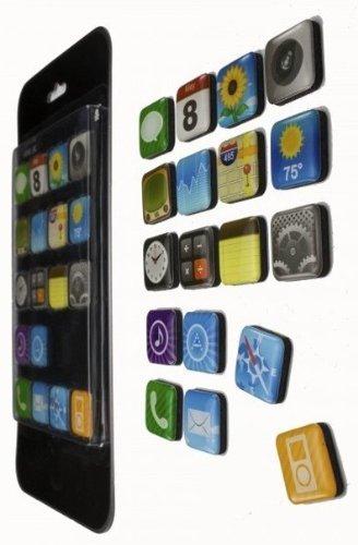 Fridge Door Magnets .. Phone Icons Refrigerator Magnet