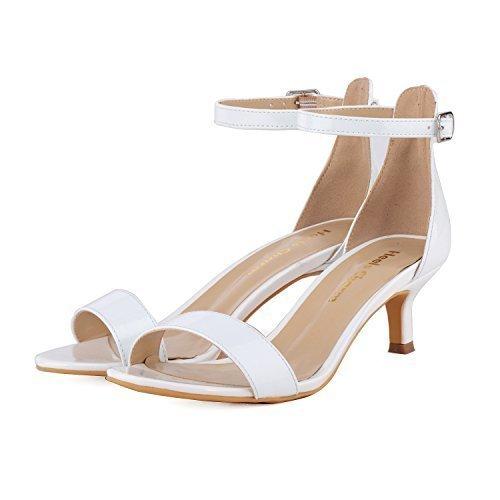 4deaee932640 Women s Stiletto Open Toe Low Heel Sandal Ankle Strap High Heels 5CM ...