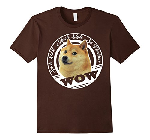 Mens Awesome Doge Meme T-Shirt - Funny Dog Tee Shirt Small Brown