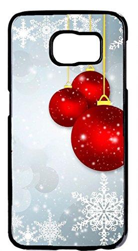 Christmas Gift idea Cute Ornament Design Hard Plastic Black Case Cover for Samsung Galaxy S6 by Cases4U (Tm) -