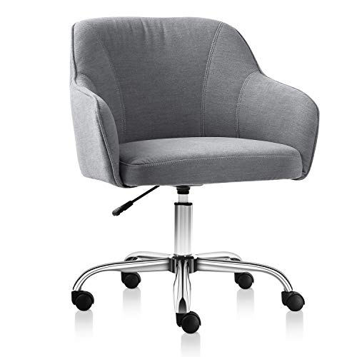 VH Furniture Home Office Chair Upholstered Desk Chair with Arms for Conference Room or Office(Gray)