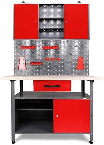 Ondis24 4250627248514 Werkstattset 120cm Promo rot