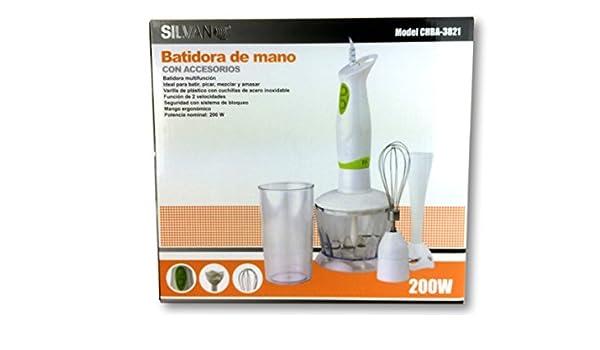Batidora De Mano Con Accesorios Silvano: Amazon.es