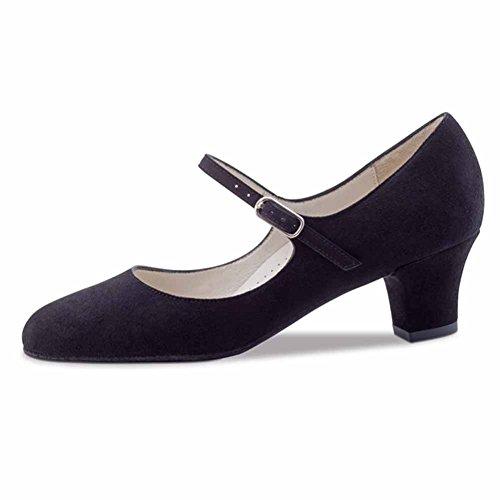 Ashley 4 Noir Danse 5 Suéde Werner Femmes de Chaussures cm Kern wxFnqCXP