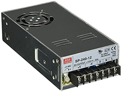 MEAN WELL SP-240-12 AC to DC Power Supply, Single Output, 12V, 20 Amp,  240W, 1 5