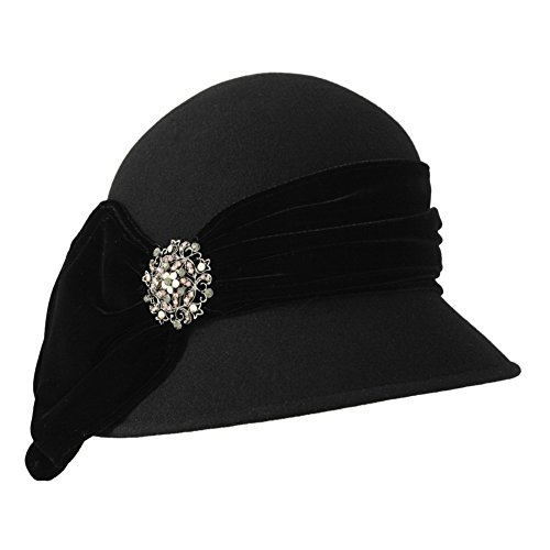 Black Vintage Cloche by Toucan Hats