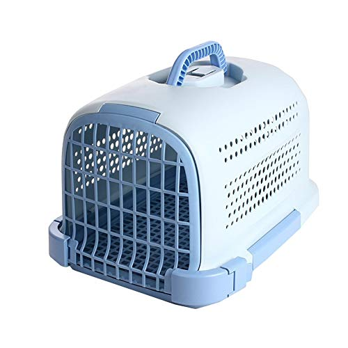 bluee Nosterappou Pet air Box is Easy to disassemble The Puppy Travel Haulage Box, The Four Sides of The net Breathe More smoothly, Healthy (color   bluee)