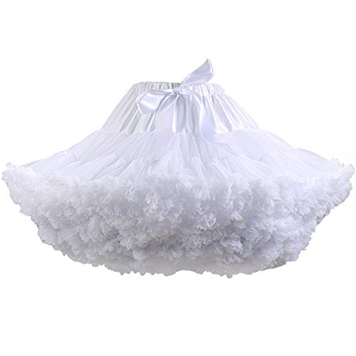 Women's Elastic High Waist Ballet Sweet Puffy Skirt Princess Mesh Tulle Fluffy Skirts