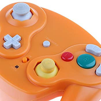 Wireless 2.4ghz Controller Gamepad For Nintendo Gamecube & Nintendo Wii (Spice Orange) 6