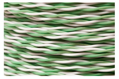 ECore Cables 89-250-148 GW:1000 24 AWG Cross Connect Wire - 1 Pair - Cat5e Rated - GN/W -with GN - 1000' - Green/White