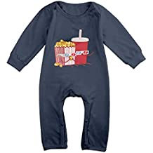 Soft Cotton Popcorn And Coke Baby Onesies Bodysuits