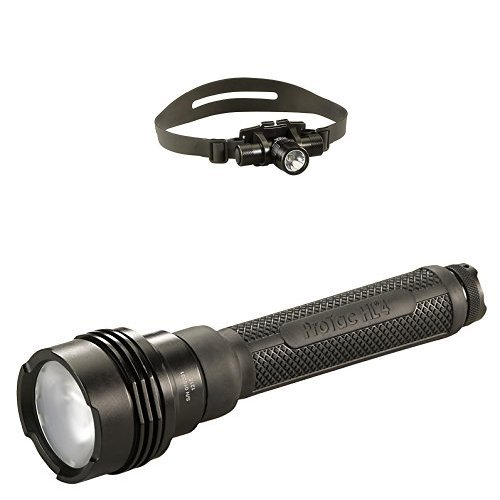 Streamlight Lumen Professional Tactical Flashlight with High/Low/Strobe Dual Fuel and ProTac HL Headlamp by Streamlight