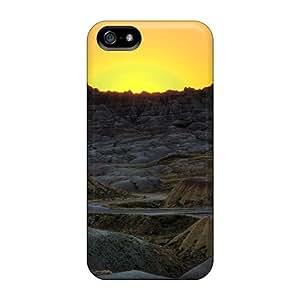 Unique Design Iphone 5/5s Durable Tpu Case Cover Sunset On Badls Np South Dakota