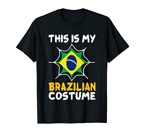 This Is My Brazilian Costume Halloween Patriot Brazil Tee