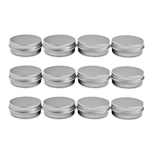 Houseables Aluminum Tin Jars, 1 Oz, 30 ML Gram Jar, 12 pcs