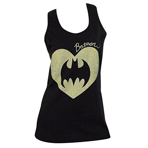 Batman+tank+top Products : Batman Logo Heart Womens Juniors Tank Top