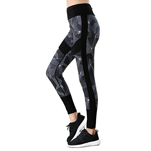 Cheap BELE ROY Women's Yoga Pants Capris Workout Pants Elastic Jogging Pants Leggings(Black XX-Large)