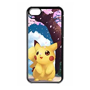 iPhone 5c Black Cell Phone Case Pikachu TGKG596159