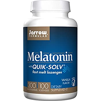 Jarrow Formulas Quik-Solv Melatonin, Supports Sleep Regulation, 300 mcg, 100 Lozenges