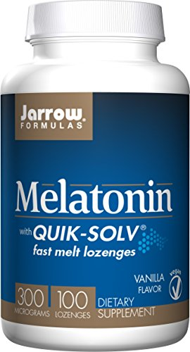 Jarrow Formulas Quik-Solv Melatonin, Supports Sleep Regulation, 300 mcg, 100 Lozenges -  MFM