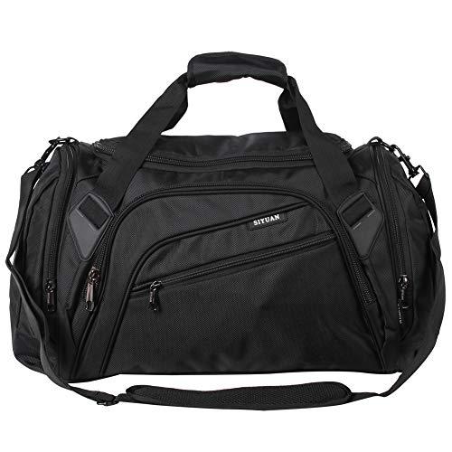 SIYUAN Gym Bag for Men Sports Duffel Bag Gear Equipment Bag Shoe Compartment S M L XL 15-22 Inches, 32-68L