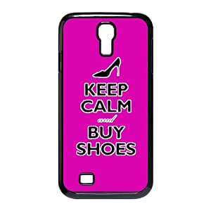 jany store123 Customize keep calm and buy shoes on all kinds of background black plastic Case Fits and Protect SamSung Galaxy S4 I9500