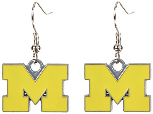 (NCAA Michigan Wolverines Dangle Earrings )