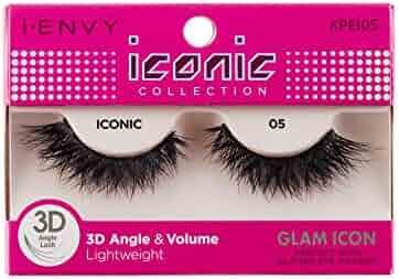 34e57865de8 Kiss I Envy Iconic Collection Lashes #05 3D Angle & Volume (Glam) (