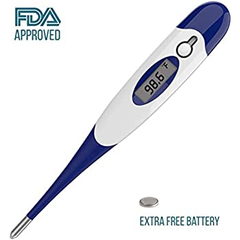 JASUN Digital Thermometer Quickly Measure The Temperature of a Human Body or Animal - Oral Thermometer FDA and CE Approve