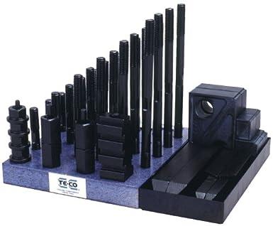 51 Pieces 5//8 Table T-Slot x 1//2-13 Stud TE-CO 20212 Steel Super Clamp Kit