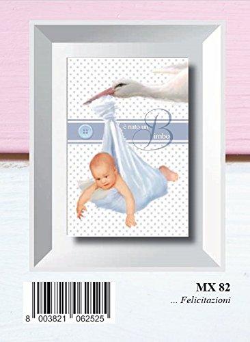 Mini tarjeta felicitación nacimiento niño 6 x 9 cm bebé con ...
