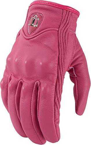 Icon Motorcycle Gloves Icon - Icon Womens Pursuit Motorcycle Gloves Pink Small S