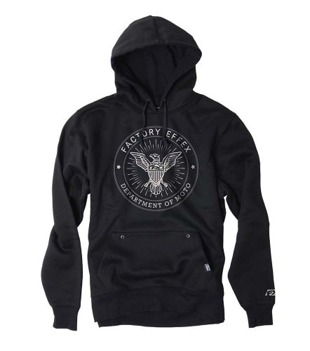 Factory Effex 'FX CIA' Hooded Pull-over Sweatshirt (Black, XX-Large)