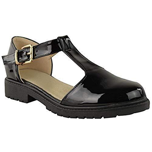 Pour Découpes Thirsty Noir Fashion Verni Femmes Baskets qxgREC7