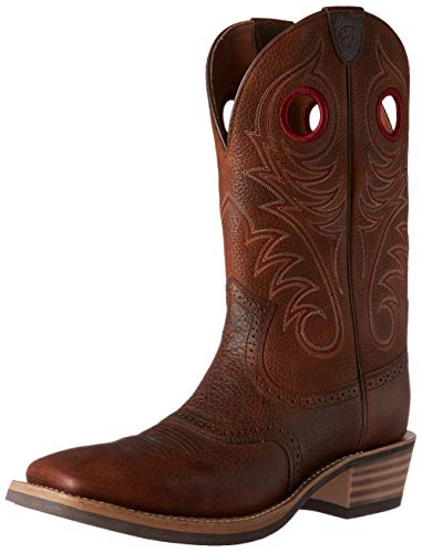 Ariat Men's Heritage Roughstock Western Cowboy Boot, Brown Oiled Rowdy, 10 EE