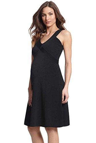 Seraphine Ola Little Black Maternity Dress - Black - 6 by Seraphine