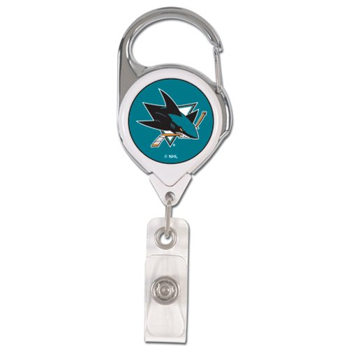 Wincraft NHL San Jose Sharks Premium Badge Reel with Metal Clip