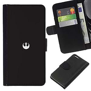 LECELL--Cuero de la tarjeta la carpeta del tirón Smartphone Slots Protección Holder For Apple Iphone 5C -- Alianza Rebelde Mínimo --