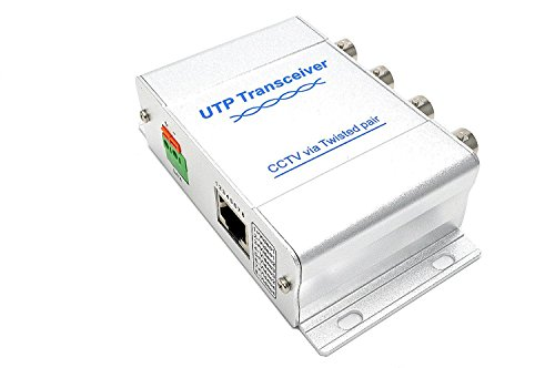 BeElion UTP 4 Channel BNC to RJ45 Coax Pasive Video Balun Transmitter for CCTV Camera System - 4 Channel Coaxial