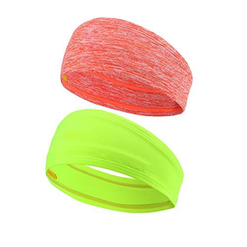 (MYZJ Headband (Stripe Orange and Fluorescent Yellow))
