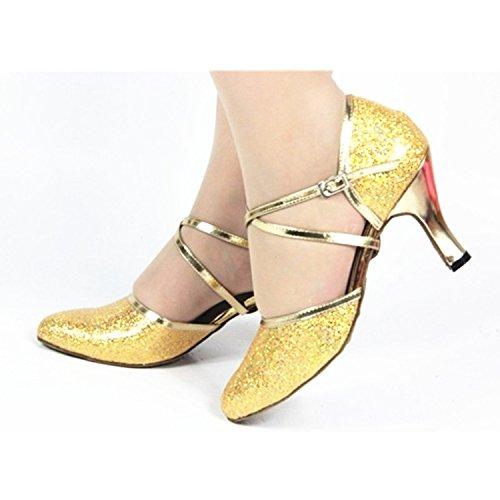 tango femmes de 7 latine danse 8 danse 5CM bal chaussures nbsp;Les danse cadeaux golden YFF 5cm Chaussures de de 1O65WqH
