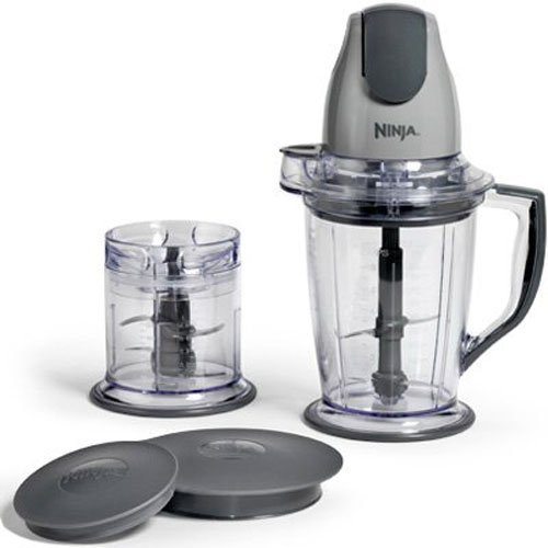Ninja  QB900B Master Prep Chopper, Blender, Food Processor, Silver (Certified Refurbished) (Refurbished Operation)