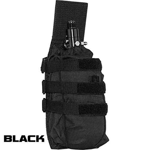Paintball Air Tank Pouch Vest Molle Valken V-tac Vtac Tactical Universal (Black) - Paintball Molle Pouches