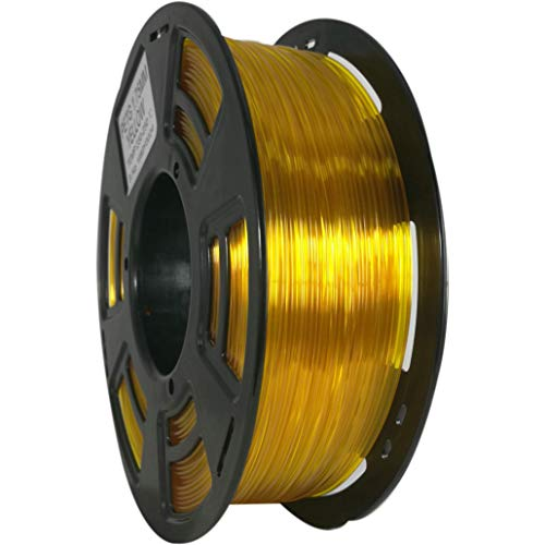 Stronghero3D 3D Printing PETG Filaments 1.75mm Net Weight 1KG Accuracy +/-0.05mm (Translucent Yellow)