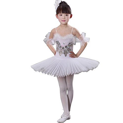 Huicai Girl Sequins swan Lake Ballet Dance Costume Girls Ballet Skirt